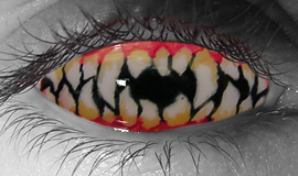 Jagged Teeth Contact Lenses