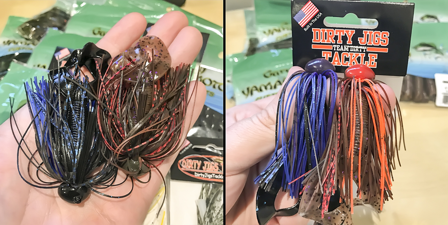 Dirty Jigs Finesse Football jig with a Yamamoto Double Tail trailer.