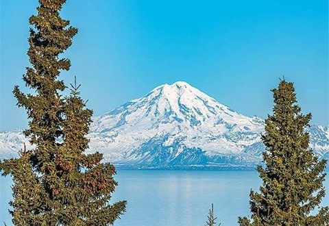 Mount Redoubt on the Kenai Peninsula Alaska