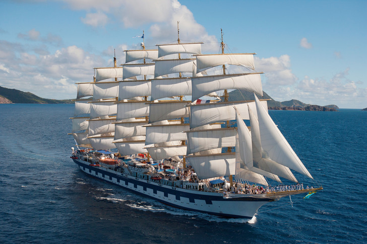 The Royal Clipper (largest sailing ship)