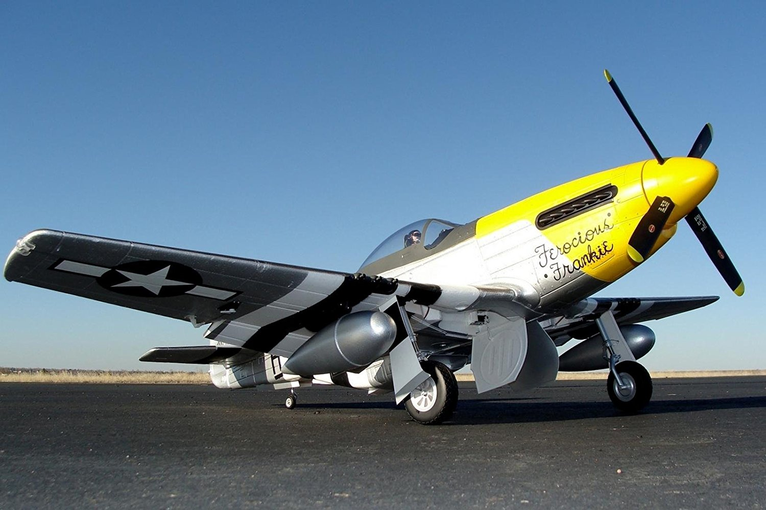 "FMS P-51 Mustang Ferocious Frankie 6CH 1700mm (66.9"") Wingspan with Flaps LED Retracs PNP RC Airplane Warbird"