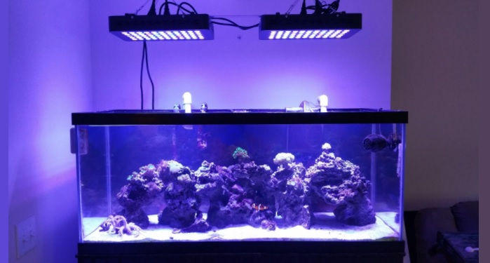 MarsAqua Dimmable 165W LED Aquarium Light