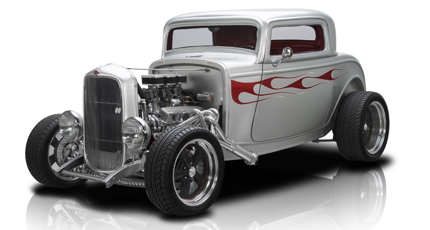 "1932 Ford 3-Window Frame Off Built 3 Window Coupe 350 V8 700R4 4 Speed Automatic Ford 9"" 3.89 A/C"