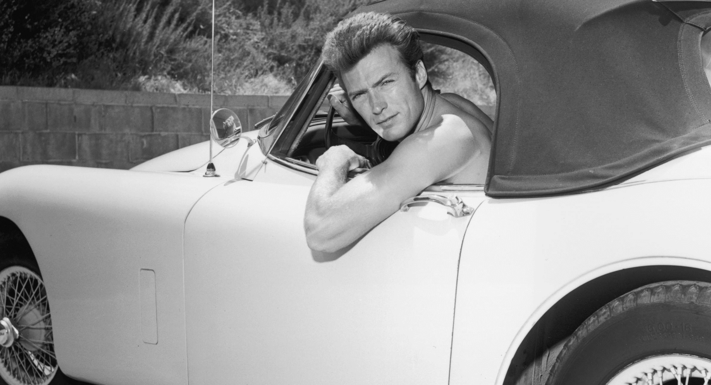 1965: Clint Eastwood in his Jaguar XK150 roadster