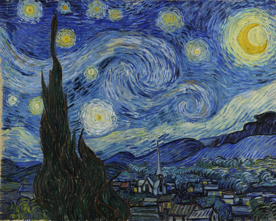 Starry Night by Vincent Van Gogh 1889