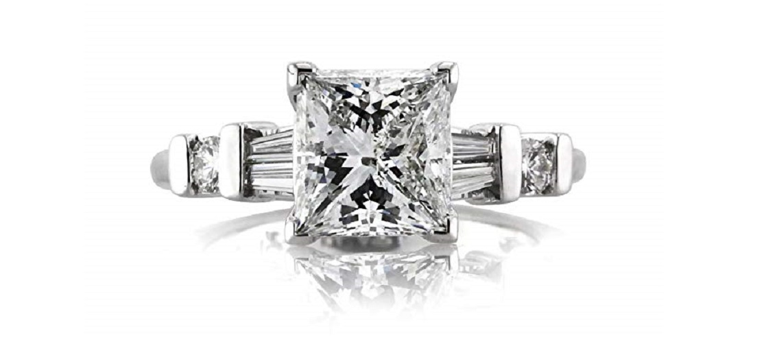 Mark Broumand 2.42ct Princess Cut Diamond Engagement Ring