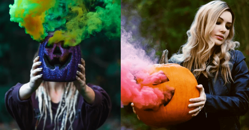 Pumpkin Smoke Bombs Are The Latest Halloween Trend And Everyone is Loving It