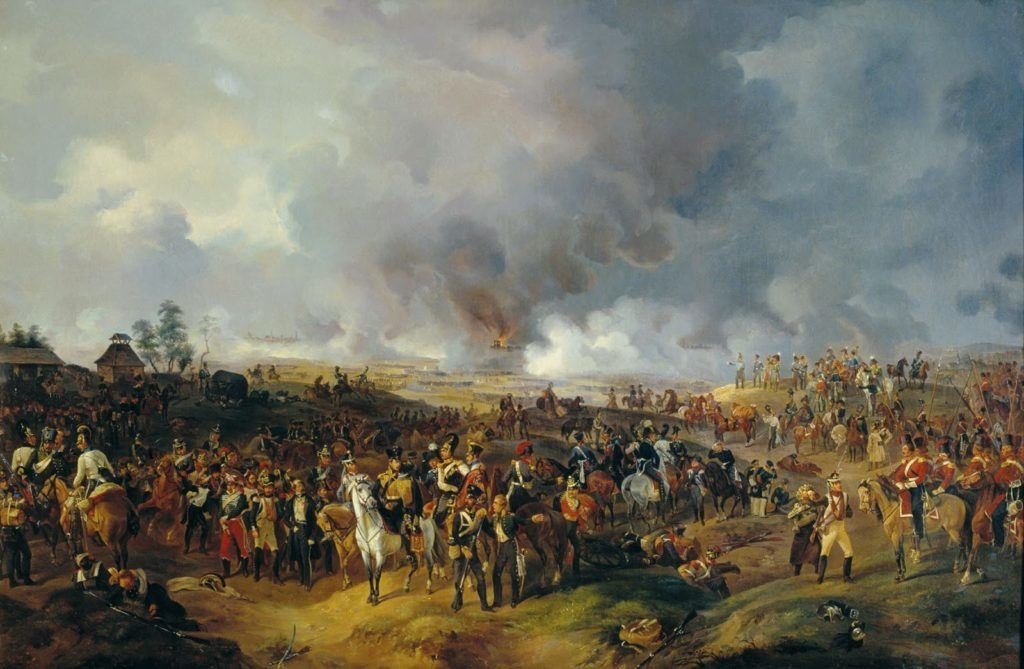 October, 16 1813 Battle of Leipzig, largest battle in Europe prior to WWI, Napoleon's forces defeated by Prussia, Austria and Russia
