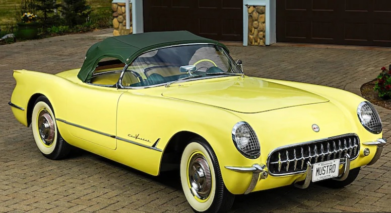 This Spectacular 1955 Corvette in Harvest Gold Is Super-Rare