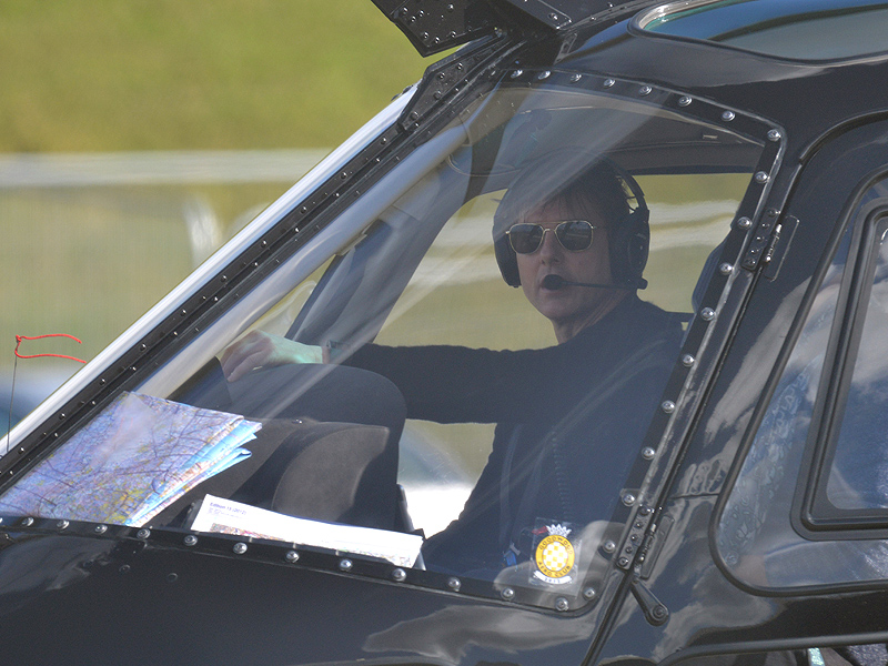 Tom Cruise Piloting a Helicopter in London